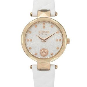 Versace Versus Petite White Leather Watch